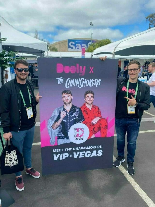 dooly and the chainsmokers at saastr 2021